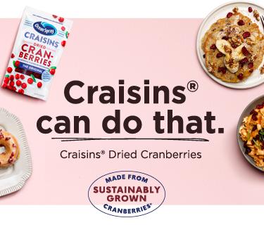 Crasins can do that. Craisins Dried Cranberries made from sustainably grown cranberries mobile banner image